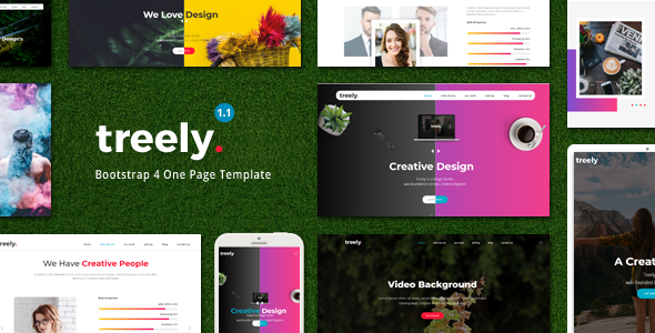 Treely - One Page Parallax