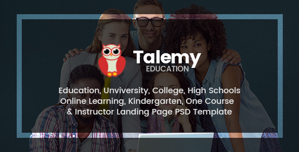 Talemy | Multipurpose Education PSD Template - Corporate PSD Templates