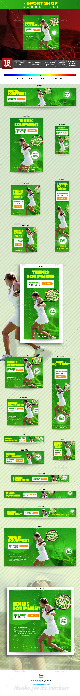 Sport Shop Banner - Banners & Ads Web Elements