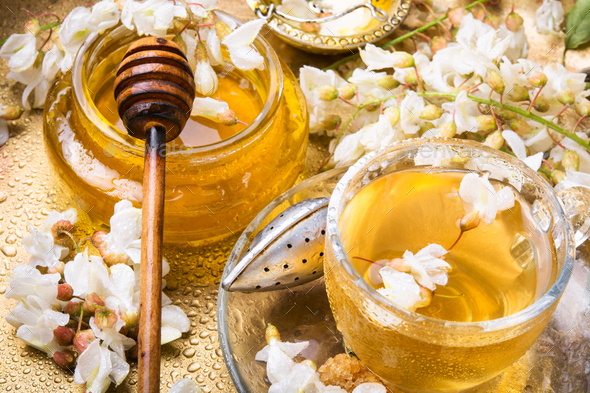Tea with acacia flavor - Stock Photo - Images