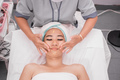 beautician giving facial massage - PhotoDune Item for Sale