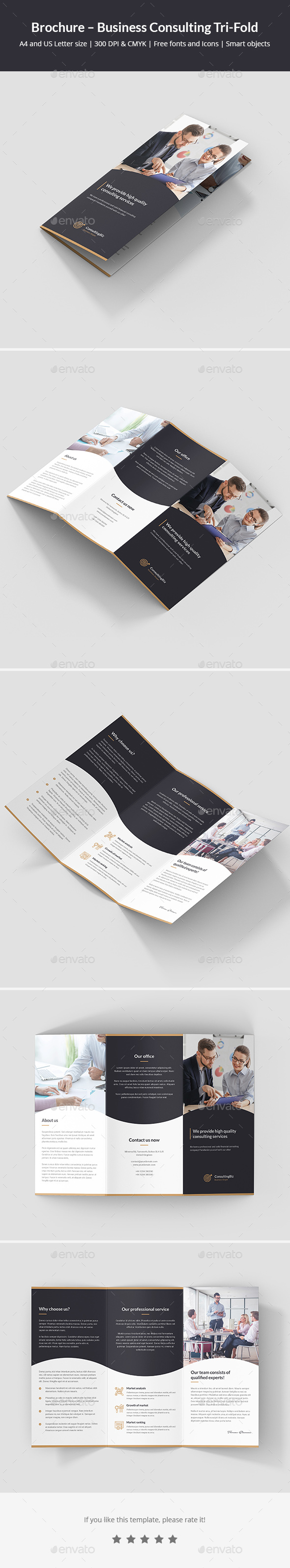 Brochure – Business Consulting Tri-Fold - Corporate Brochures
