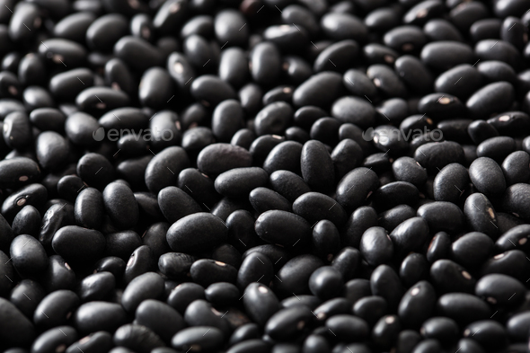 black turtle beans legumes background - Stock Photo - Images