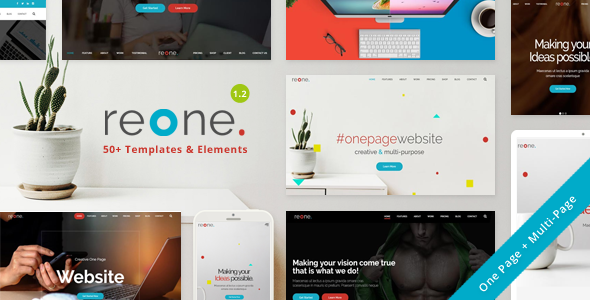 Reone – One Page Parallax