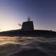 Submarine Against The Evening Sky - VideoHive Item for Sale