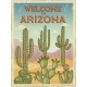 Design Template of Retro Poster Welcome to Arizona