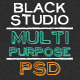 The Multi Purpose Black Studio PSD - ThemeForest Item for Sale