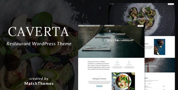 Caverta - Fine Dining Restaurant WordPress Theme - Restaurants & Cafes Entertainment