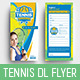 DL Tennis Rack Card Template - GraphicRiver Item for Sale