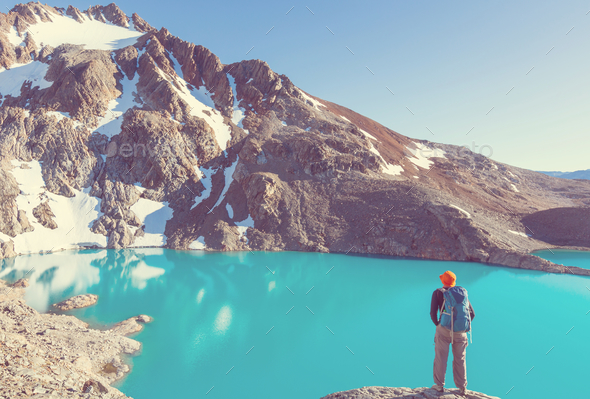 Hike in Patagonia - Stock Photo - Images