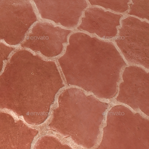Red Terracotta Floor Tiles Seamless Texture