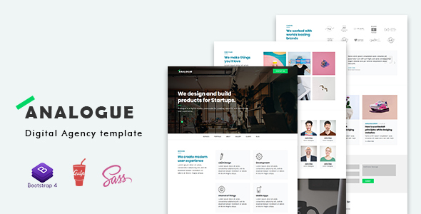 Image of Analogue - Digital Agency template