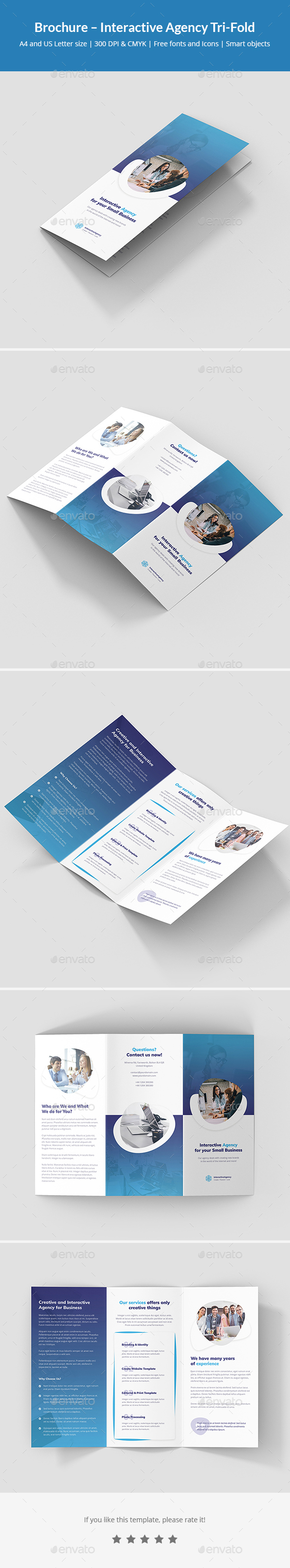 Brochure – Interactive Agency Tri-Fold - Corporate Brochures