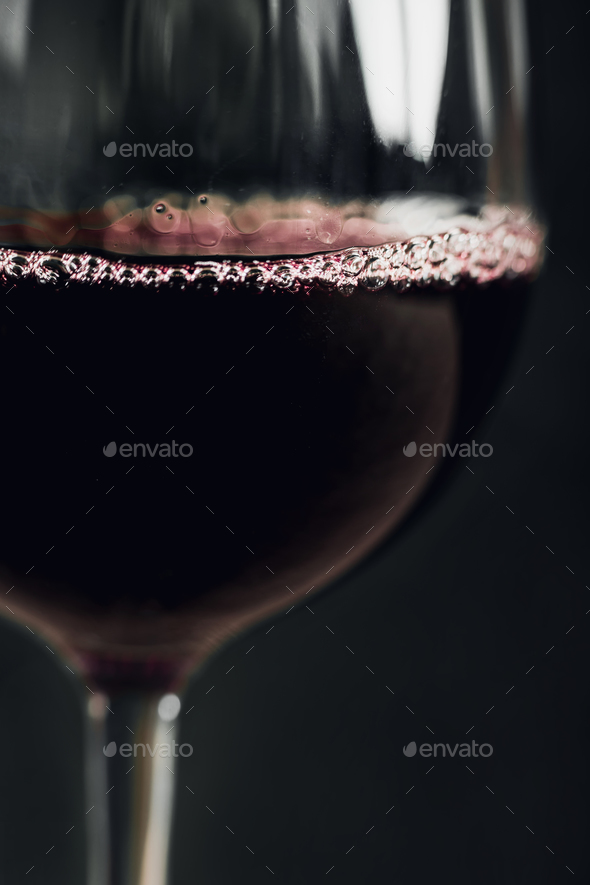 Glass Of Red Wine Close-Up - Stock Photo - Images