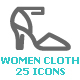 Clothing Woman Mini Icon - GraphicRiver Item for Sale