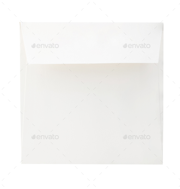 Blank envelope close-up isolated on a white background. - Stock Photo - Images