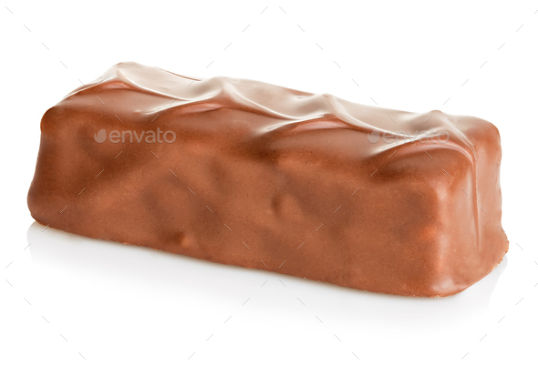 Chocolate bar close-up isolated on a white background. - Stock Photo - Images