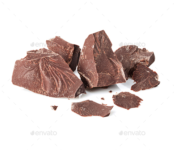 Chocolate close-up isolated on a white background. - Stock Photo - Images