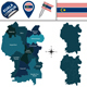 Map of Kuala Lumpur with Districts - GraphicRiver Item for Sale