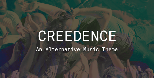 Image of Creedence - An Alternative Music Theme for Bands and Labels