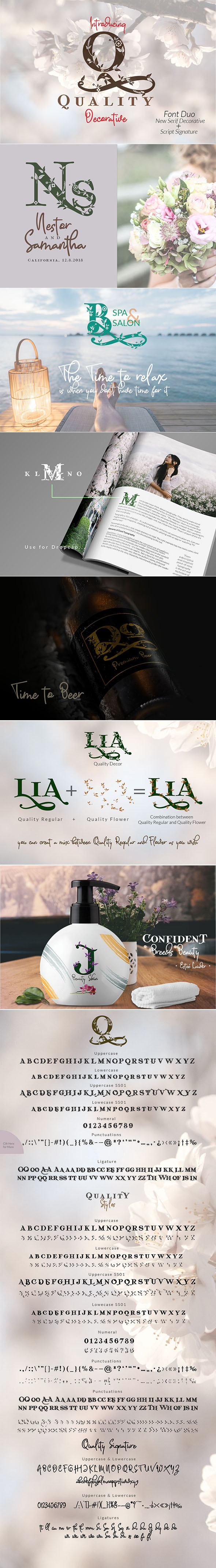 Quality Decorative Font Duo - Decorative Fonts