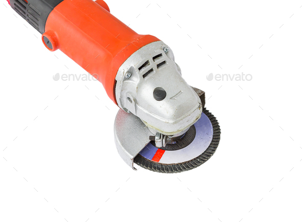 Power grinder on white background-2 - Stock Photo - Images