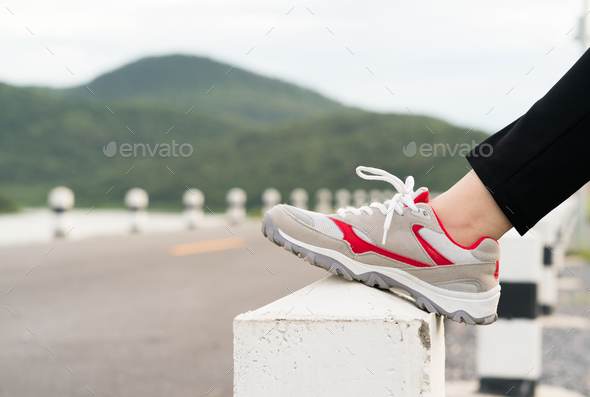 Woman preparing for jogging outdoor-16 - Stock Photo - Images