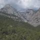 Aerial Footage of Green Misty Forest in a Mountain Landscape. Kemer, Turkey - VideoHive Item for Sale