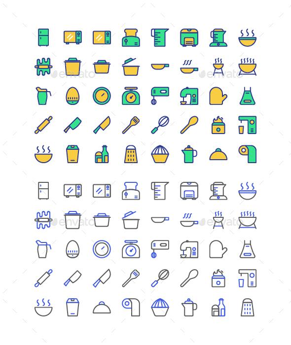 50 Kicthen Icon Set - Icons