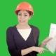 Angry Female Engineer in Hardhat with Documents Shouting and Pointing Finger Into the Camera on a - VideoHive Item for Sale