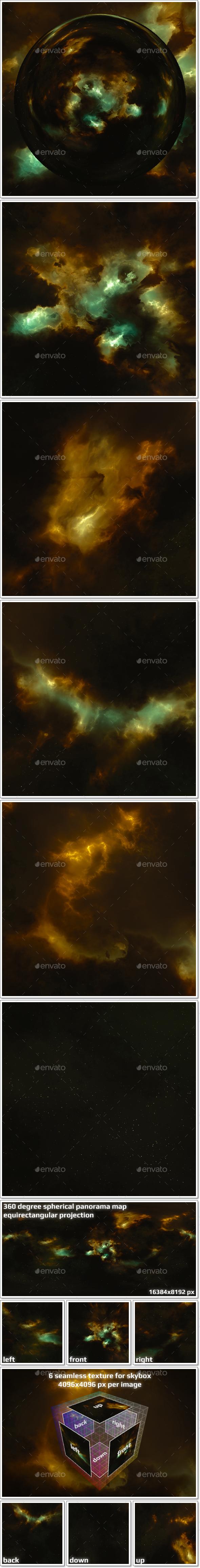 Nebula Space Environment HDRI Map 018 - 3DOcean Item for Sale