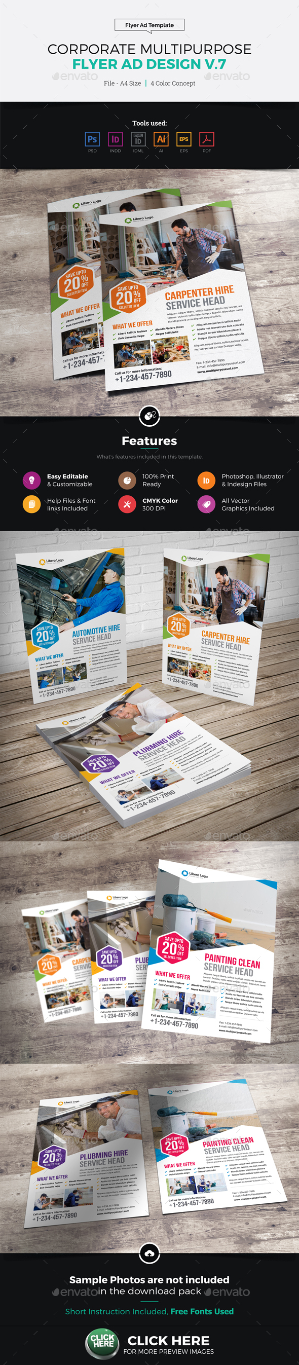 Corporate Multipurpose Flyer Ad Design v7 - Corporate Flyers