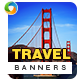 Travel Banners - Updated! - GraphicRiver Item for Sale