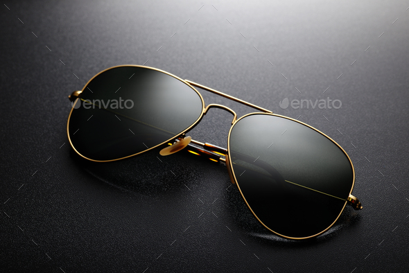 Aviator sunglasses isolated - Stock Photo - Images