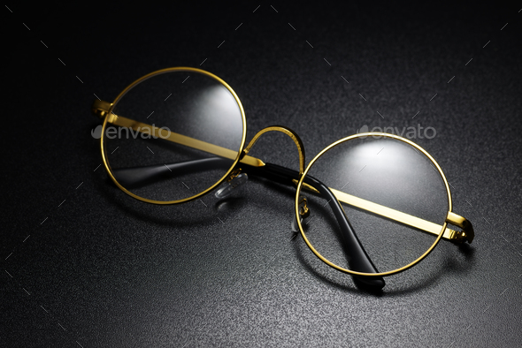 Classic round eyeglasses - Stock Photo - Images