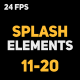 Liquid Elements 2 Splashes 11-20 - VideoHive Item for Sale