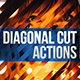 Diagonal Cut Actions for Photoshop