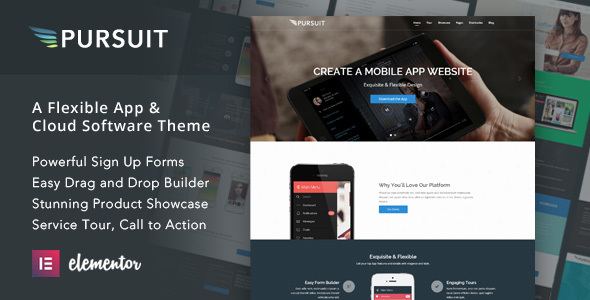 Pursuit - A Flexible App & Cloud Software Theme