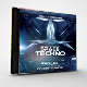 Space Techno Photoshop CD/DVD Template