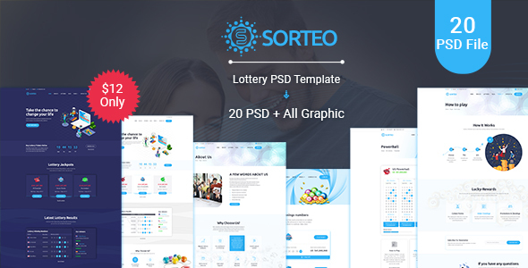 Sorteo– Lotto PSD Template - Miscellaneous PSD Templates