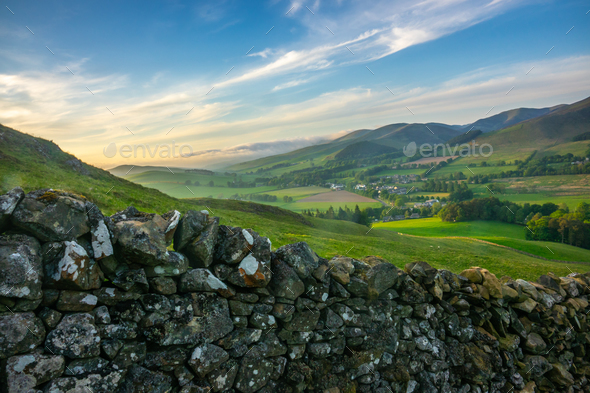Rolling Scottish Countryside - Stock Photo - Images