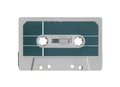 Isolated Grungy Cassette Tape - PhotoDune Item for Sale