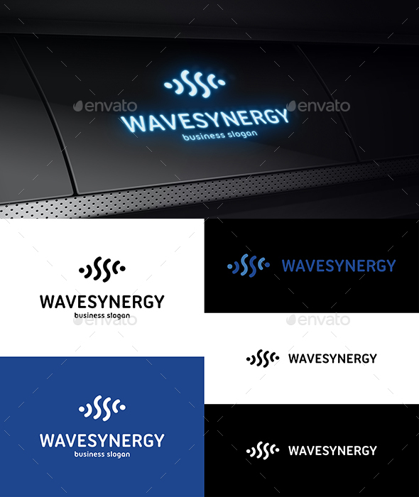 Wave Synergy Logo - Vector Abstract