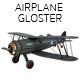 Airplane GLOSTER GLADIATOR, PLANE