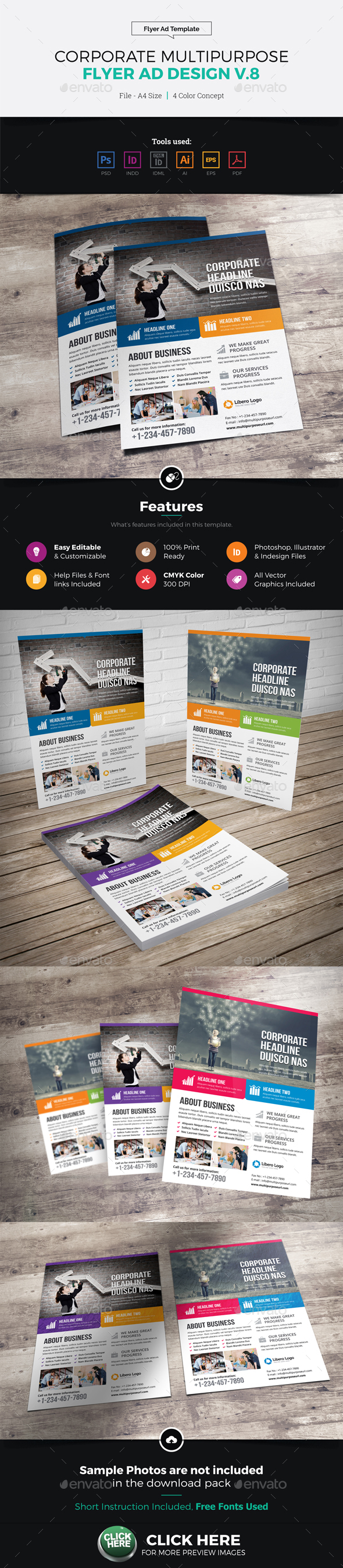 Corporate Multipurpose Flyer Ad Design v8 - Corporate Flyers