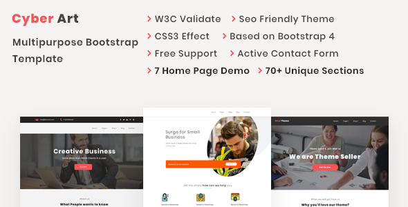 CyberArt - Multipurpose Bootstrap Template - Technology Site Templates