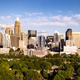 Aerial View Long Panoramic Shot of Charlotte North Carolina Downtown - PhotoDune Item for Sale