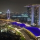 Night Panorama of Singapore with Marina Bay Sands - VideoHive Item for Sale