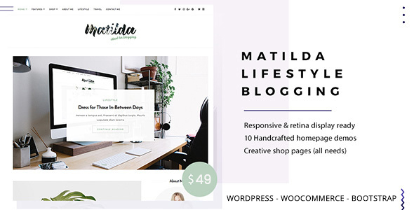 Image of Matilda | Lifestyle Minimal WordPress Blog Theme