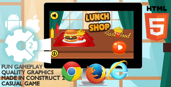 Lunch Shop Html5 Game            Nulled